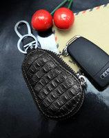 鳄鱼皮拉链钥匙包汽车钥匙包通用车遥控高档男女真皮壳扣套